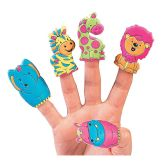 RTD-3330 - Colorful Jungle Zoo Animal Puffy Finger Puppet