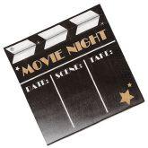 RTD-3422 - 16-pack of Movie Night Clapboard Napkins
