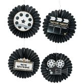 RTD-3431 - Hanging Fans with Movie Night Icons