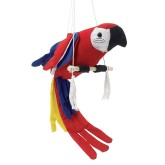 RTD-3508 - Cloth Parrot on Swing Perch