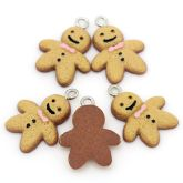 RTD-3618 - Resin Gingerbread Man Charms