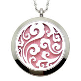 RTD-3623 - Stainless Steel Vines Design Essential Oils Diffuser Locket Charm Necklace