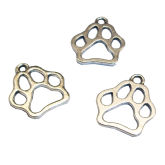 RTD-3648 - Animal Paw Print Metal Charms Antique Silver Finish