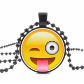 RTD-3678 - Goofy Face Emoji Pendant Necklace