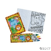 RTD-3746 - Mini Zoo Animal Coloring Set - Booklet and Crayons