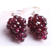RTD-3779 - Set of Natural Crystal Grape Earrings