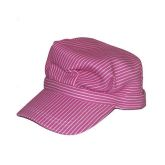 RTD-3789 - Toddlers Pink Deluxe Train Engineer Hat w/ Adjustable Touch Fastener