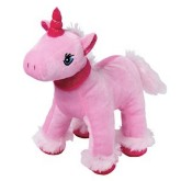 RTD-3837 - Large 10.5 Inch Pink Plush Unicorn