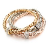 RTD-3857 - 3-Piece Gold Silver Charm Fashion Bracelet