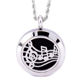 RTD-3862 - Music Lover's Aromatherapy Essential Oils Diffuser Stainless Steel Locket Necklace