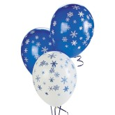 RTD-3887 - Snowflake Winter Party Balloon Blue White 11 inch