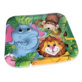 RTD-3911 - 8pc Set of Zoo Animal 9-inch Square Paper Party Plates