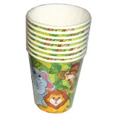 RTD-3918 - 8-Pack Zoo Animal Party Paper Cups
