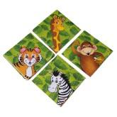 RTD-3921 - 16-Pack Cute Zoo Animal Beverage Napkins