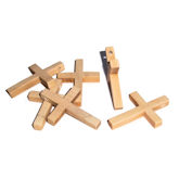 RTD-3923 - Large Natural Wood Cross Beads