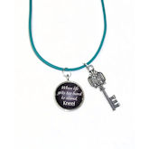 RTD-3926 - Peace Key Necklace When Life Gets Too Hard To Stand, Kneel