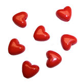 RTD-3927 - Red 3D Acrylic Heart Love Charm Beads