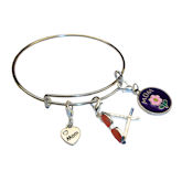 RTD-3933 - Mom XOXO Love Heart Spring Flower w/ Summer Shades Charm Bracelet