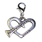 RTD-3937 - John 3:16 Heart Charm for Dangle Bracelet