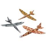 RTD-3946 - Jungle Safari Zoo Animal Print Airplane Gliders