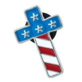 RTD-3952 - Stars and Stripes Patriotic Cross Pin