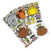 RTD-3955 - Zoo Animal Fun Face Creation Sticker Sheet