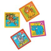 RTD-3966 - Jungle Safari Zoo Animal Slide Puzzle Party Favor