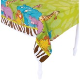 RTD-3968 - Zoo Animal Theme Plastic Table Cover
