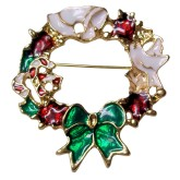 RTD-3977 - Christmas Wreath Brooch Pin