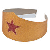 RTD-3982 - Golden Superhero Tiara with Red Star