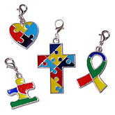 RTD-3992 - 4 Piece Set of Autism Awareness Charms