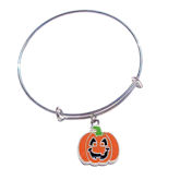 RTD-4008 - Happy Jack-O-Lantern Expandable Bangle Bracelet