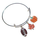 RTD-4010 - Fall Football Fan Autumn Charm Bracelet