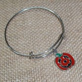 RTD-4015 - Halloween Jack-O-Lantern Expandable Bangle Bracelet