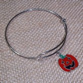 RTD-4016 - Halloween Jack-O-Lantern Expandable Bangle Bracelet