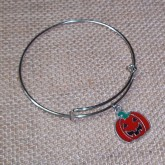 RTD-4017 - Halloween Jack-O-Lantern Expandable Bangle Bracelet