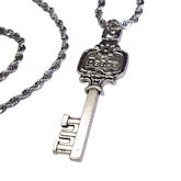 RTD-4019 - Peace Key Charm Necklace w/ Stainless Steel Rope Chain