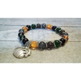 RTD-4044 - Fall Pumpkin Stretch Bracelet