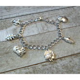 RTD-4057 - Fall Thanksgiving Antique Silver Charms Bracelet