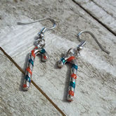 RTD-4105 - Christmas Candy Cane Charms Earring Set