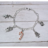 RTD-4106 - Candy Cane, Santa, North Pole Charm Bracelet