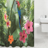 RTD-4111 - Tropical Forest Parrot Shower Curtain