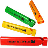 RTD-4118 - Colorful Plastic Train Party Whistle Noisemaker