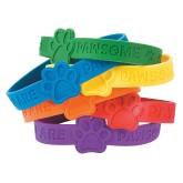 RTD-4176 - You Are Pawsome Print Bracelets