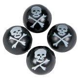 RTD-4215 - Rubber Skull  and Crossbones Bouncing Balls
