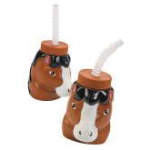 RTD-4460 - Horse Cups with Lids & Straws