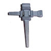 RTD-1052 - Metal Nail Cross Pin Brooch