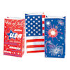 RTD-1294 - Patriotic USA Red White Blue Party Favor Treat Bags