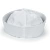 RTD-1371 - White Cotton Sailor Hat for Children