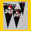 RTD-1383 - Pirate Party Pennant Banner w/ 48 Flags 100 ft